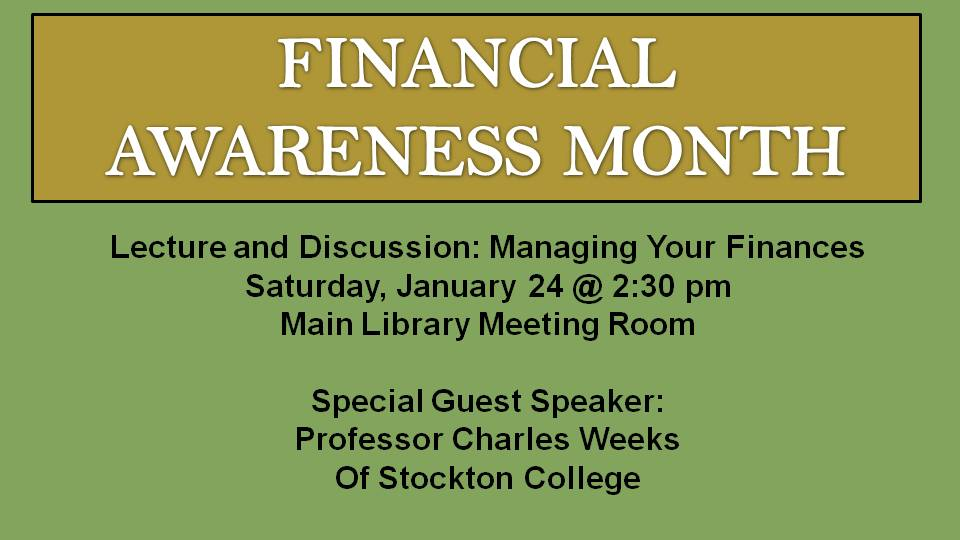 Financial Awareness Jan