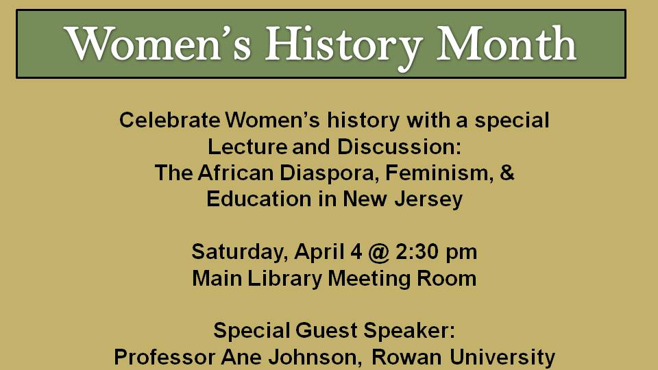 Womens History Month moved to April 2015
