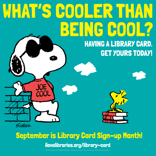 Library card signup month