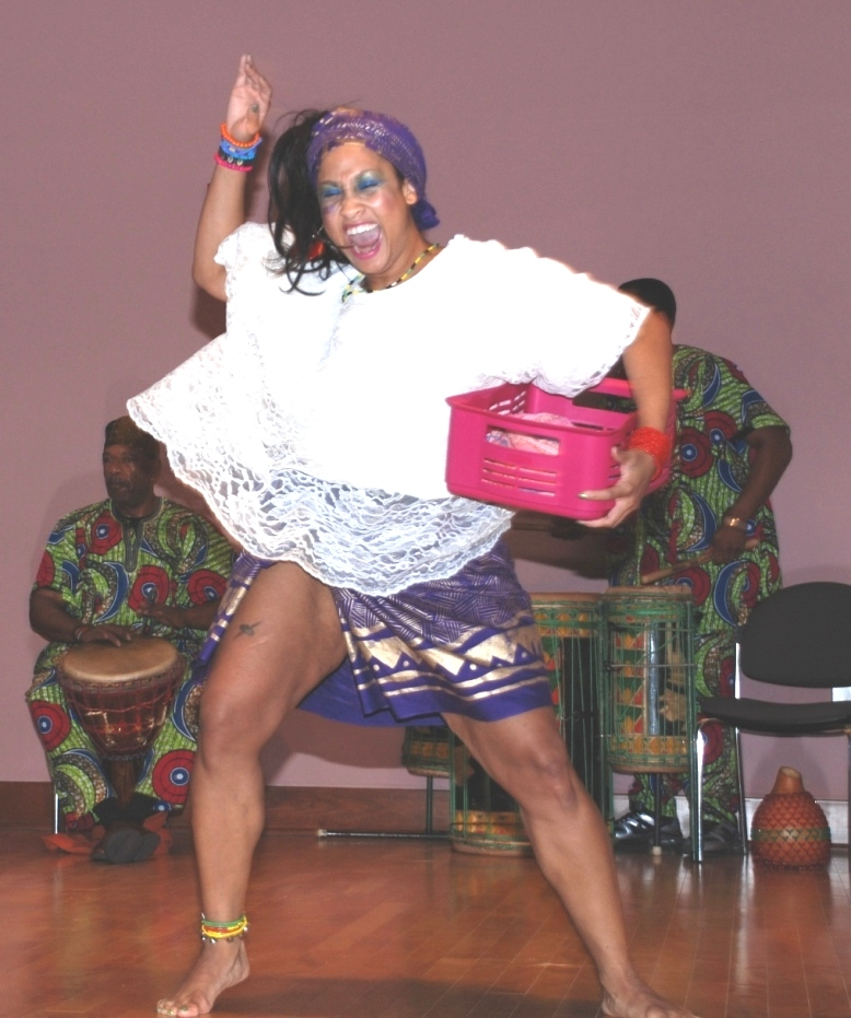 Afro One at Kwanzaa program